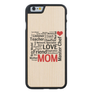 I Love Mom - Multitasking Master Chef Mother Carved® Maple iPhone 6 Slim Case