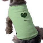 I Love Mom Peacock Heart Dog Shirt