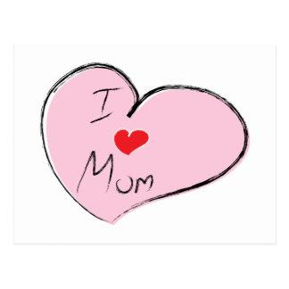 I Love Mom Postcard