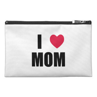 I Love Mom - Red Heart - Black Text Travel Accessories Bags