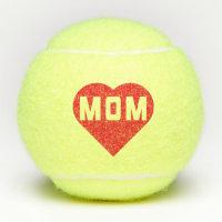 I Love Mom Red Heart Tennis Balls