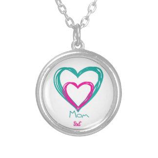 I love mom round pendant necklace