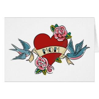I Love Mom Tattoo Card 1