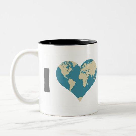 I Love Mom Two-Tone Coffee Mug
