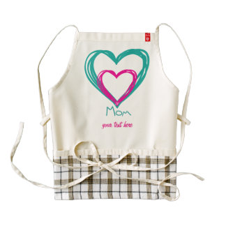 I love mom zazzle HEART apron