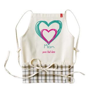 I love mom zazzle HEART apron