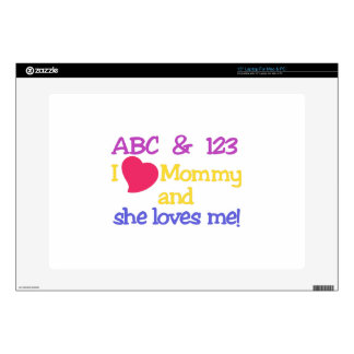 """I Love Mommy 15"""" Laptop Decal"""