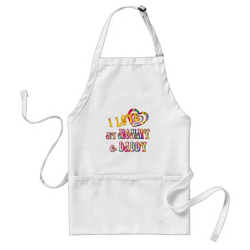 I Love Mommy and Daddy Apron