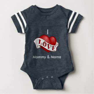 I Love Mommy and Momma Baby Bodysuit