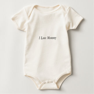 I Love Mommy Baby Bodysuit
