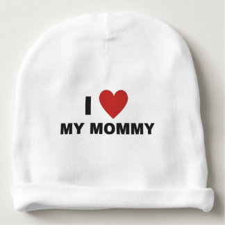 I LOVE MOMMY Baby Cotton Beanie