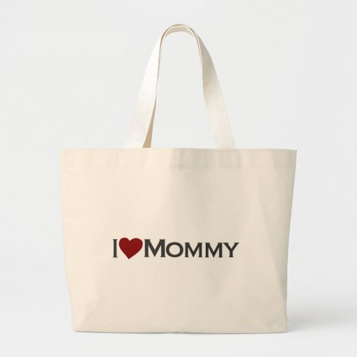 I love mommy canvas bag