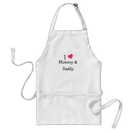 I Love Mommy & Daddy Adult Apron
