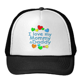 I Love Mommy & Daddy Trucker Hat