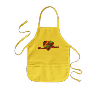I Love Mommy & Mama Kids' Apron