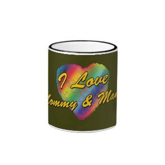 I Love Mommy & Mama Mug