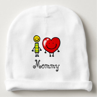 i love mommy (personalized) baby beanie