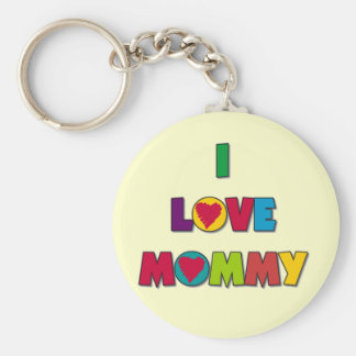 I Love Mommy Tshirts and Gifts Keychains