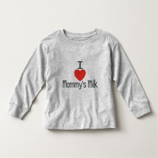 I love mommy's milk red toddler t-shirt