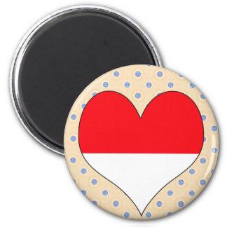 I Love Monaco Magnets