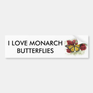 I LOVE MONARCH BUMPER STICKER