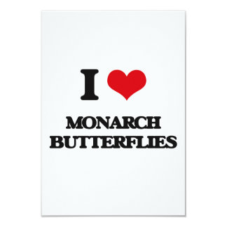 I love Monarch Butterflies 3.5x5 Paper Invitation Card