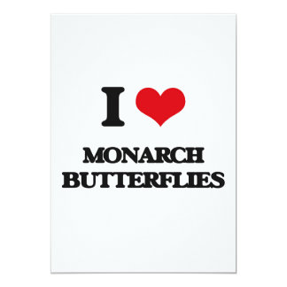 I love Monarch Butterflies 5x7 Paper Invitation Card