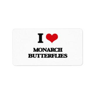 I love Monarch Butterflies Address Label
