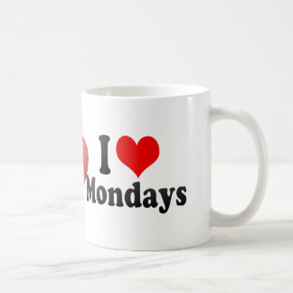 I Love Mondays Classic White Coffee Mug