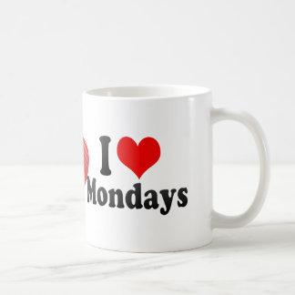 I Love Mondays Coffee Mugs