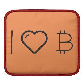 I Love Monetary Symbols iPad Sleeve