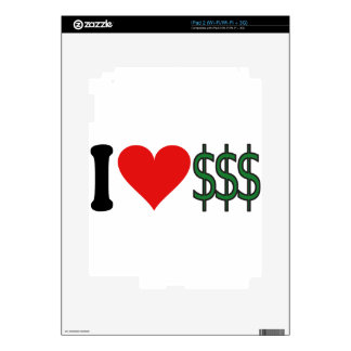 I Love Money * iPad 2 Skins