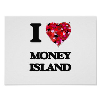 I love Money Island New Jersey Poster