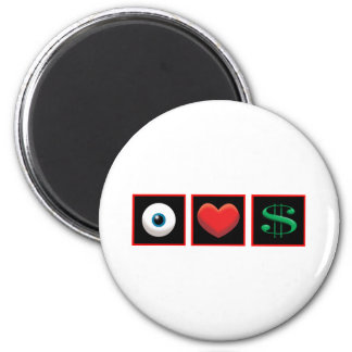 I LOVE MONEY REFRIGERATOR MAGNETS