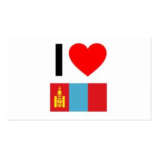 i love mongolia Double-Sided standard business cards (Pack of 100)