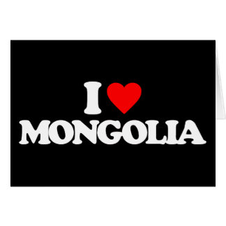 I LOVE MONGOLIA STATIONERY NOTE CARD