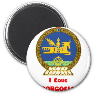 I LOVE MONGOLIA--DESIGN 1 FROM 933958STORE FRIDGE MAGNET