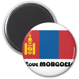 I LOVE MONGOLIA--DESIGN 2 FROM 933958STORE MAGNET