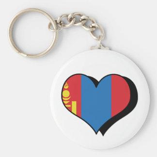 I Love Mongolia Keychain