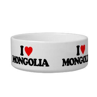 I LOVE MONGOLIA CAT WATER BOWL