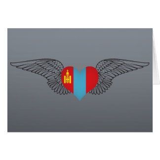 I Love Mongolia -wings Greeting Card