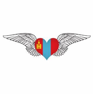 I Love Mongolia -wings Photo Cutout