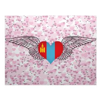 I Love Mongolia -wings Postcard