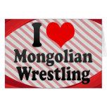 I love Mongolian Wrestling Card