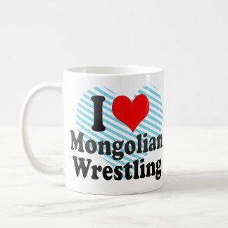 I love Mongolian Wrestling Classic White Coffee Mug