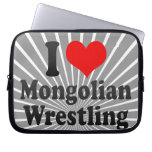 I love Mongolian Wrestling Laptop Sleeves