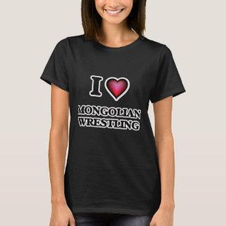 I Love Mongolian Wrestling T-Shirt