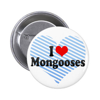 I Love Mongooses Pinback Buttons