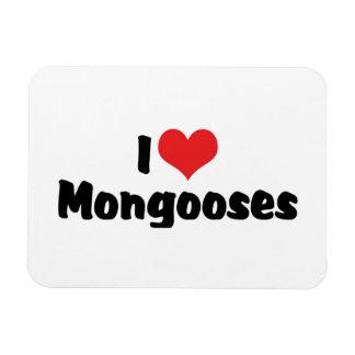 I Love Mongooses Rectangular Photo Magnet