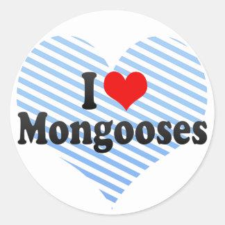 I Love Mongooses Sticker